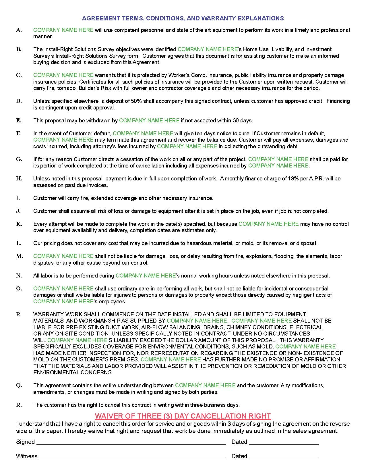 Hvac Proposal Template paralegal resume objective examples – Hvac Proposal Template